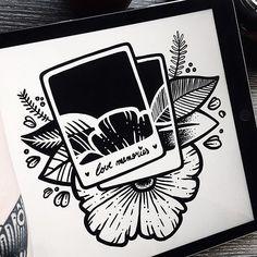 LOVE MEMORIES #inktober2017 • #pablocontrario #illustration #drawing #illustrator #ilustracion #dibujo #ilustrador #black #blackandwhite #tattoo #tattooideas #tatuaje #tatooed #mustache #bearded #beard #art #linework #dotwork #blackwork #inktober #photo #instagood #instadaily #polaroid #love