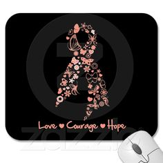 Love Courage Hope Butterfly - Endometrial Cancer