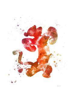 Tigger, Winnie the Pooh lámina Ilustración, arte de la pared, decoración del…