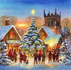 Jim Mitchell - Christmas tree village darker.
