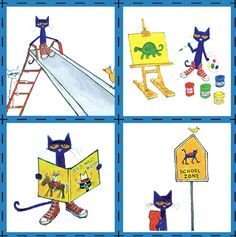 A 'Pete the Cat'-themed card matching game!