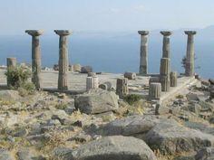 Temple of Athena, Assos BC 530 .  .    Behramkale - Çanakkale , Turkey .  .   The only Doric temple in Asia Minor.