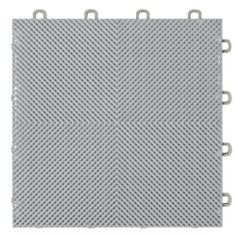 Interlocking Perforated / Drain Floor Tile - 30 sq.ft. - Gray by MODUTILE. Save 45 Off!. $65.70. The tiles install easily without the use of special tools or adhesives. Just interlock the tiles together by hand. No surface preparation is required other than sweeping the floor clean. These interlocking tiles can withstand heavy foot traffic and rollover weight of large vehicles, which makes the tiles especially suitable as a garage flooring solution. Petroleum products such as grease, oil…