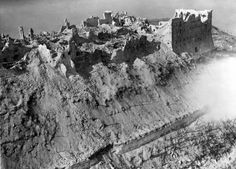 Battle Monte Cassino Monastery | Scene from the Battle of Monte Cassino, 1944 by Anonymous