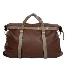 Weekender Bag in Brown Leather | SPENCER DEVINE