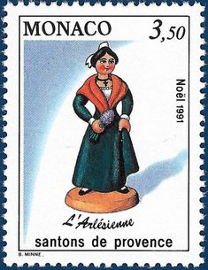 ...  this last stamp is from the 1991 Christmas series of Monaco; it shows the Arlésienne. Description from kraplap.blogspot.ca. I searched for this on bing.com/images