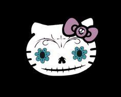 Hello Kitty Sugar Skull Cross Stitch Pattern