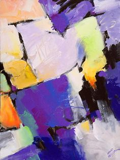 Violet Vibe by David Kessler Acrylic ~ 40 x 30.Art. Abstract Art.