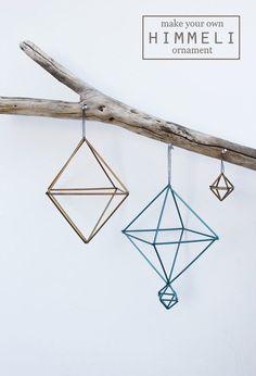 DIY: straw himmeli ornaments