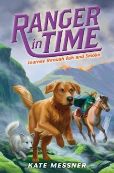 JOURNEY THROUGH ASH AND SMOKE  (Book) : Messner, Kate : Travel through books and get lost in time in these exciting all-new adventures from your favourite serie! Ranger is a time-traveling golden retriever with search-and-rescue training. In this adventure, he goes to Viking Age Iceland, which proves to be tough terrain for Ranger to navigate. Usually it's Ranger's job to save the day before he can return to his family, but he meets a girl named Helga who rescues him more than once. And when…