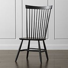 Marlow II Black Wood Dining Chair. Maybe we need to add some black to that side of the room. They show these as the host/hostess chairs in the KC store.
