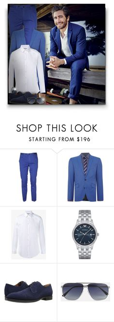 """""""Jake Gyllenhaal!"""" by asia-12 ❤ liked on Polyvore featuring PT01 Pantaloni Torino, Kenneth Cole, Gucci, Emporio Armani, Aquatalia by Marvin K., Tom Ford, men's fashion and menswear"""