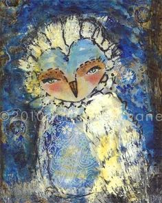 White Owl Reproduction  8x10 inch Print of the by juliettecrane, $25.00