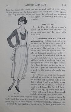 Aprons and Caps 1922 Woman's Institute of Domestic Arts Sciences - vintage 1920s needlework dressmaking sewing book 20s