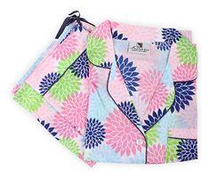 One Kings Lane - Just Because - Floral Pop Pajama Set, Multi