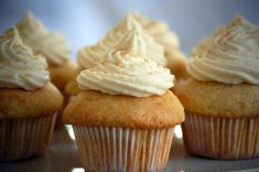 {Eggnog Cupcakes} Another gluten free holiday treat from www.agirldefloured.com