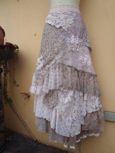 wedding bohemian boho gypsy lagenlook OAK shabby wrap
