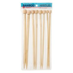 Bamboo Knitting Needles - Large Gauge - 11.8 inches - 8 Pack