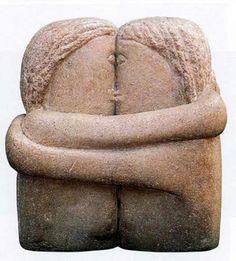 Brancusi y su particular manera de plasmar un beso.