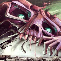 #graffiti #wall #skull #famous #writers #Padgram