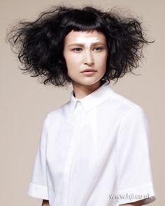 Mark Hayes - Nominee 2013 British Hairdresser of the Year Collection Medium Hair Styles, Curly Hair Styles, Curly Hair Salon, Fringe Bangs, Editorial Hair, Edgy Hair, Beauty Photos, Hair Photo, Love Hair