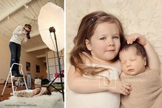 Newborn Baby Photography with siblings