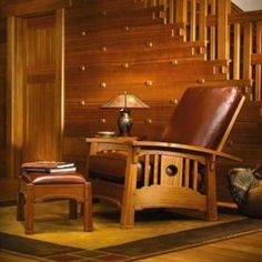 Mission Style Furniture Living Room Couch And Side Chair With ...