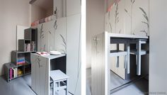 87 sq ft Kitoko Studio - Tiny Apartment - Paris - Pull-Out Furniture - Humble Homes