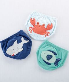 Baby Aspen's Under the Sea Diaper Cover Gift Set is perfect for a beach-themed baby shower or for baby's first beach trip. Featuring three adorable cotton diaper covers with a fish, crab or shark applique, baby boy is dapper in just a diaper. Baby Girl Gift Sets, Baby Girl Gifts, Baby Shower Gifts For Boys, Baby Shower Parties, Ocean Baby Showers, Best Baby Items, Baby Aspen, Cotton Diapers, Diaper Parties