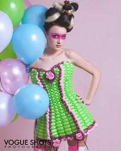 www.CustomBalloonDresses.com Model:  Melynda Hair:  Brittany Shanor MUA:  Sheena Farley Photographer:  Anjanette Lynn #balloondresses