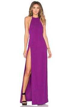 SOLACE London Loretta Maxi Dress in Magenta