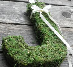 beautiful and rustic moss covered decorative letters