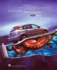 Ford Focus Octopus Ad 2002 Automobile Industry Ad