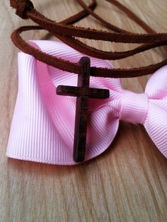 Wood Cross Pendant and simple Suede by AtkinsFamilyCrafts on Etsy, $15.00
