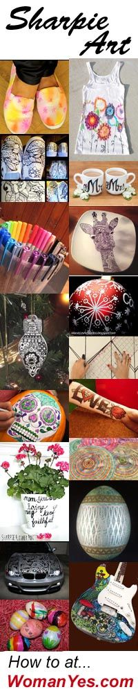 The versatile Sharpie knows no bounds. It leaves its indelible mark on paper, fabric, glass, porcelain, leather, plastic, rocks… to create original DIY art, chic clothing, memorable gifts, inexpensive home decor and more. Here are 14 Hot Sharpie Makeovers. http://www.womanyes.com/14-hot-sharpie-makeovers-3-is-unreal-a-viral-pin-sharpie-fail/