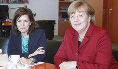 Merkel ofrece al Gobierno ayuda contra el paro juvenil en una reunión con la vicepresidenta Soraya Sáenz de Santamaría.