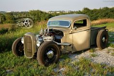 1935-36-CHOPPED-FORD-PICKUP-TRUCK-HOT-ROD-RAT-STREET-TRADITIONAL-MODEL-A-SCTA