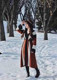 Calgary Based Fashion & Adventure Blogger #freepeople #retro #sweaterdress