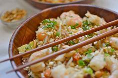 Pineapple Fried Cauli-rice with Garlic Prawns by @Marlina Latib Parras girlmeetspaleo.com #paleo