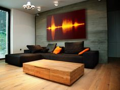 The same idea of visualized sound waves in different color