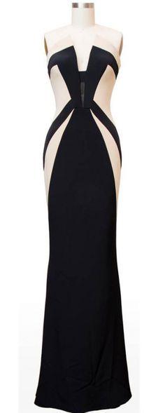 Olivia Pope's gown - Scandal - Rubin Singer Fall 2013 Black and Ecru Silk Gown | Pradux