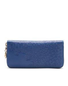 #AdoreWe #VIPme Wallets - LANNIU Blue Leather Clouds Pattern Wristlet Wallet - AdoreWe.com