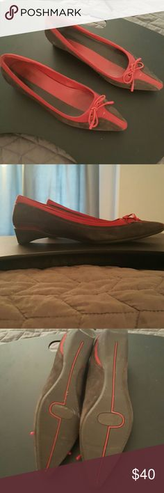 Cole Haan g series Gray and red shoes by Cole haan Cole Haan Shoes Flats & Loafers