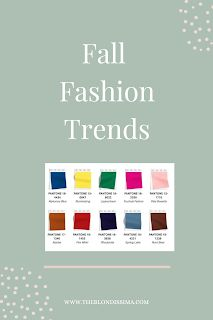 Fall Fashion Trends - The Blondissima