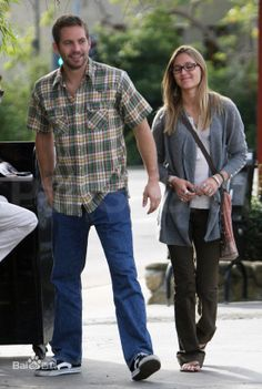 Paul Walker with girlfriend