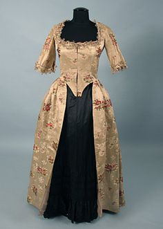 Silk Brocade Open Gown, c. 1770  Session 2 - Lot 647 - $2,250