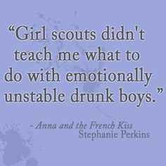 Hahaha damn Girl Scouts. You taught me a lot, but you definitely dropped the ball on this lol