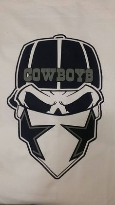 Dallas Skull- Cowboys by TinasCustomTees on Etsy