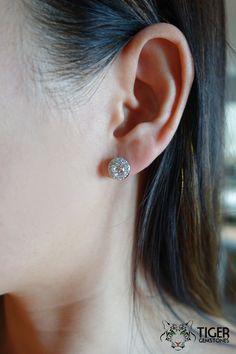1 25 Ct Round Halo Stud Earrings Flawless D By Tigergemstones Bridal