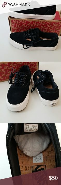 NWT Vans Suede Sneakers Unisex New Vans style and comfort in one. Suede and cork foot bed cushy and comfortable.  M=7  W=8.5 Vans Shoes Sneakers